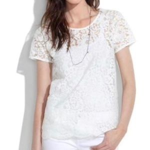 Madewell Lace Blossom Tee L
